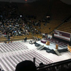 Photo taken at Cassell Coliseum by Tara K. on 12/21/2012