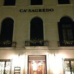 Photo taken at Ca' Sagredo Hotel Venice by Nicolas B. on 3/4/2013