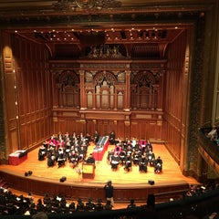 Photo taken at New England Conservatory's Jordan Hall by Ethan M. on 5/22/2016