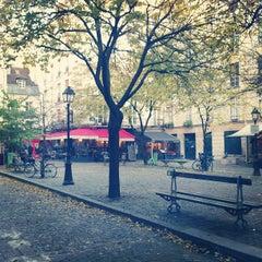 Photo taken at Place du Marché Sainte-Catherine by Emmanuelle V. on 12/2/2012
