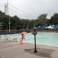 Photo taken at Astoria Park Pool by Candee S. on 7/21/2015