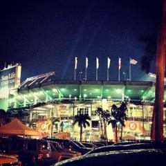 Photo taken at Sun Life Stadium by Katie J. on 1/7/2013