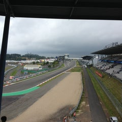 Photo taken at Nürburgring Mercedes-Tribüne by Henk K. on 8/31/2013