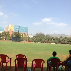 Photo taken at Dr. DY Patil Stadium (डा. डी. वाय. पाटील स्टेडीयम) by Yash C. on 1/18/2013