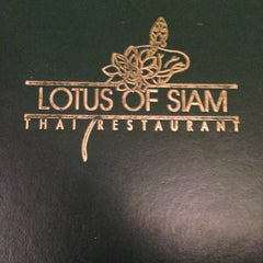 Photo taken at Lotus of Siam by Cristina A. on 10/30/2013