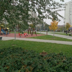 Photo taken at Park u bloku 62 by Vera R. on 11/17/2013