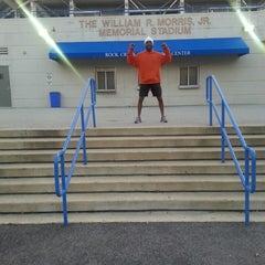 Photo taken at William H.G. Fitzgerald Tennis Stadium by Orlando D. on 4/8/2013