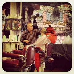 Photo taken at Park Slope Barbers by Alistair W. on 10/6/2012