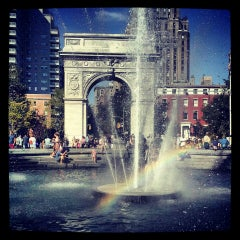 Photo taken at Washington Square Park by Uros M. on 8/24/2013