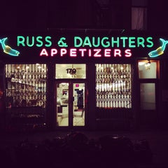 Photo taken at Russ & Daughters by Stephen B. on 3/13/2013
