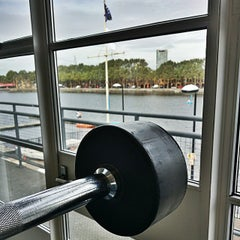 Photo taken at Surrey Docks Watersports Centre by Shayan S. on 8/30/2014