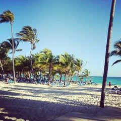 Photo taken at Riu Palace's Beach by Bruno F. on 2/15/2013