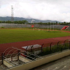 Photo taken at Stadion Maesa Tondano by Priscillia Riandha L. on 6/6/2014