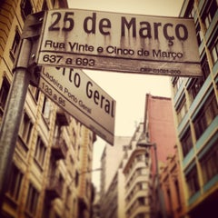 Photo taken at Rua 25 de Março by William P. on 2/13/2013
