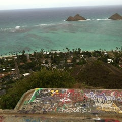Photo taken at Lanikai Pillboxes Hike by Hannah J. on 12/10/2012