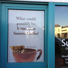 Photo taken at Sunrise Coffee by scott s. on 9/28/2012