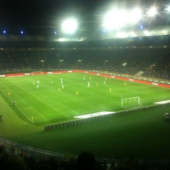 Photo taken at ОСК «Металіст» / Metalist Stadium by Анжела А. on 9/15/2012