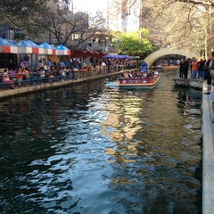 Photo taken at The San Antonio River Walk by Grant G. on 3/16/2013
