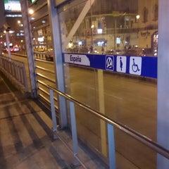 Photo taken at Estación 2 de Mayo - Metropolitano by Ricardo P. on 7/17/2013
