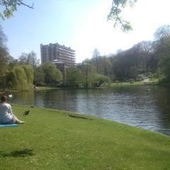 Photo taken at Parc Léopoldpark by Gzavier L. on 4/24/2013
