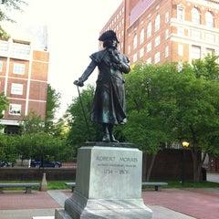 Photo taken at Robert Morris Statue by Richard L. on 5/12/2013