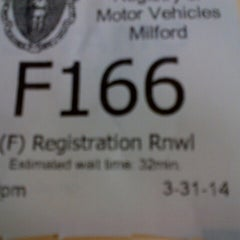 Photo taken at Registry of Motor Vehicles by Ron L. on 3/31/2014