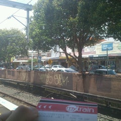 Photo taken at Flemington Station by Kira R. on 11/23/2013