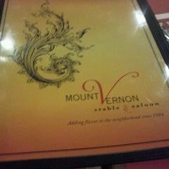 Photo taken at Mount Vernon Stable & Saloon by Travon A. on 9/23/2012