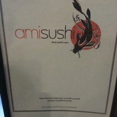 Photo taken at Ami Sushi by Melissa C. on 3/8/2014