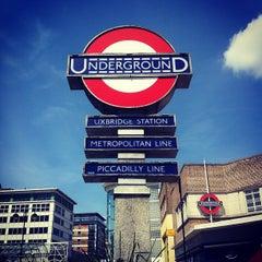 Photo taken at Uxbridge London Underground Station by Brigid H. on 5/26/2013