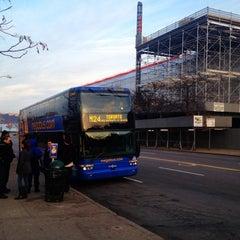 Photo taken at Mega Bus - W 34th St & 11 Av (Amherst/Chicago/Fairhaven/Albany/Burlington/Philadelphia/Washington DC/Boston/Syracuse/Rochester/Buffalo/Toronto/State Collage/Pittsburg) by Peter C. on 12/15/2012