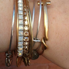 Photo taken at ALEX AND ANI Soho by Colleen on 3/3/2013