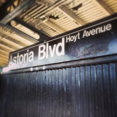 Photo taken at MTA Subway - Astoria Blvd/Hoyt Ave (N/Q) by David N. on 4/28/2013