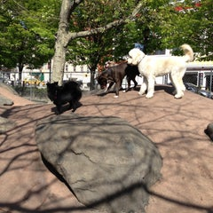 Photo taken at Chelsea Waterside Park Dog Run by Susan D. on 5/5/2013