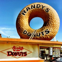 Photo taken at Randy's Donuts by Brian H. on 4/2/2013