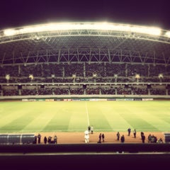 Photo taken at Estadio Nacional by Miguel V. on 1/10/2013