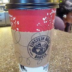 Photo taken at Einstein Bros Bagels by Jocelyn O. on 2/14/2013
