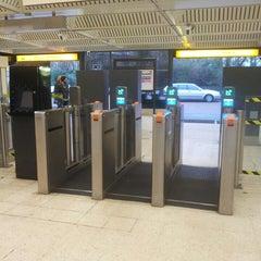 Photo taken at Jesmond Metro Station by Ahlam B. on 1/18/2014