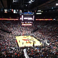 Photo taken at Moda Center at The Rose Quarter by Erin B. on 11/11/2012