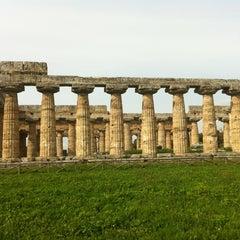 Photo taken at Area Archeologica di Paestum by Carlotta E. on 4/13/2013