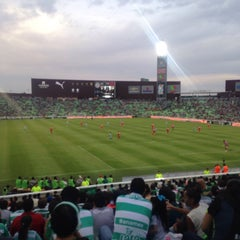 Photo taken at Territorio Santos Modelo Estadio by Sunno C. on 10/4/2015