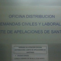 Photo taken at Oficina Distribucion Demandas Civiles by Francisco D. on 10/3/2012