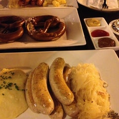 Photo taken at Brotzeit German Bier Bar & Restaurant by Tina M. on 2/24/2013