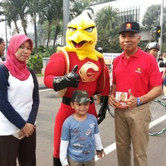 Photo taken at MH. Thamrin - Sudirman Street by Wawing W. on 3/16/2014