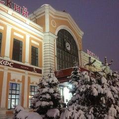 Photo taken at Савеловский вокзал / Savyolovsky Rail Terminal by Jane M. on 3/15/2013