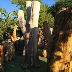 Photo taken at Big Stone Mini Golf & Sculpture Garden by Lucas M. on 8/13/2014