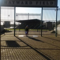 Photo taken at Hayward Field by Lynn C. on 11/23/2014