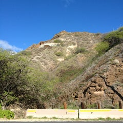 Photo taken at Amelia Earhart marker at Diamond Head Lookout by Laurel M. on 2/14/2013