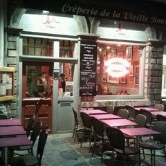 Photo taken at La Crêperie de la Vieille Bourse by William B. on 3/16/2013