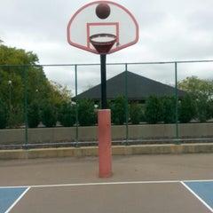 Photo taken at River Dorms Basketball Courts (Deiner Park) by JRSIV on 10/1/2014